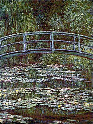 Japanese Bridge over Pool of Water Lilies - Claude Monet reproduction oil painting
