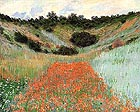 Poppy Field in a Hollow - Claude Monet reproduction oil painting