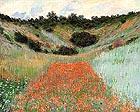 Poppy Field in a Hollow - Claude Monet