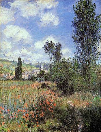 Path in the le Saint Martin - Claude Monet reproduction oil painting