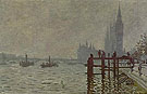 The Thames & Houses of Parliament - Claude Monet reproduction oil painting