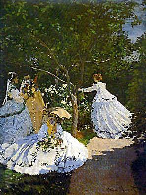 Women in the Garden - Claude Monet reproduction oil painting
