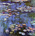 Water Lilies - Claude Monet reproduction oil painting