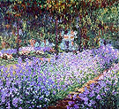 Artist's Garden Irises - Claude Monet reproduction oil painting