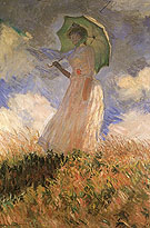 The Walk, Lady with Parasol - Claude Monet reproduction oil painting