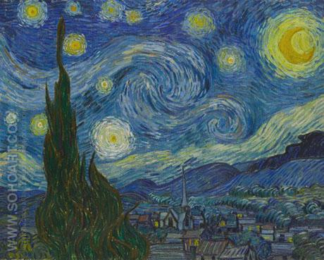 The Starry Night - Vincent van Gogh reproduction oil painting