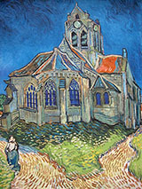 The Church at Auvers - Vincent van Gogh reproduction oil painting