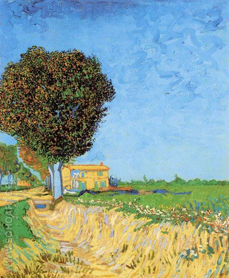 A Lane Near Arles - Vincent van Gogh reproduction oil painting