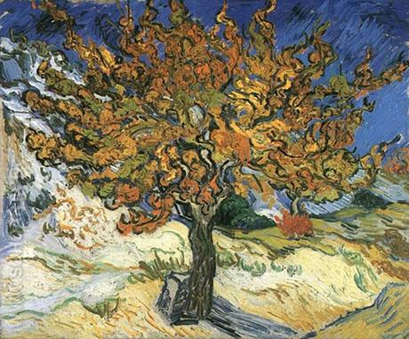 The Mulberry Tree St. Remy - Vincent van Gogh reproduction oil painting