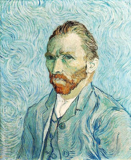 Self Portrait  St Remy - Vincent van Gogh reproduction oil painting
