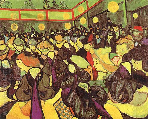 The Dance Hall in Arles - Vincent van Gogh reproduction oil painting