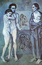 La Vie Life (1903) - Pablo Picasso reproduction oil painting