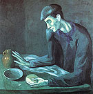 Blind Man's  Meal (1903) - Pablo Picasso reproduction oil painting
