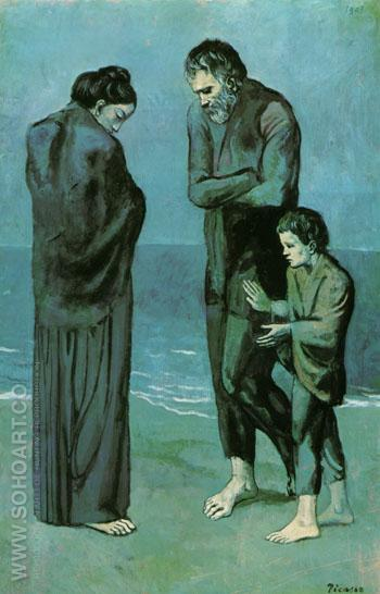The Tragedy 1903 - Pablo Picasso reproduction oil painting