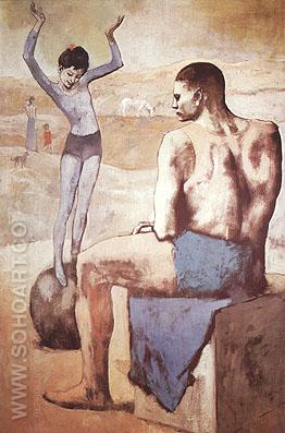 Acrobat with Ball (1905) - Pablo Picasso reproduction oil painting