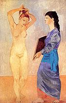 La Toilette (1906) - Pablo Picasso reproduction oil painting