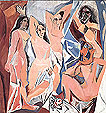 Les Demoiselles d'Avignon 1907 - Pablo Picasso reproduction oil painting