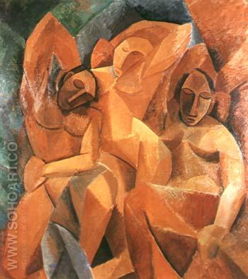 Three Women (1907) - Pablo Picasso reproduction oil painting