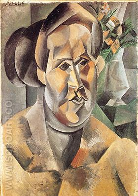 Portrait of Fernande (1909) - Pablo Picasso reproduction oil painting