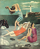 Women Bathing (1918) - Pablo Picasso reproduction oil painting