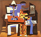 Three Musicians (1921) - Pablo Picasso reproduction oil painting