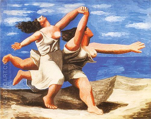 Women Running on the Beach (1922) - Pablo Picasso reproduction oil painting
