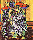Weeping Woman (1937) - Pablo Picasso reproduction oil painting