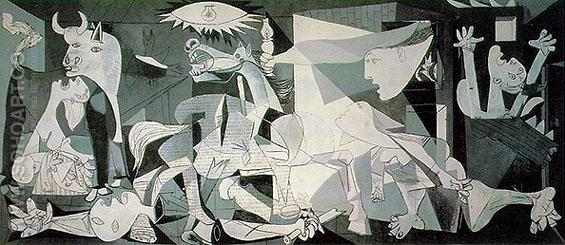 Guernica 1937 - Pablo Picasso reproduction oil painting