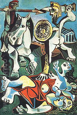 Rape of the Sabine Women  (1962) - Pablo Picasso reproduction oil painting