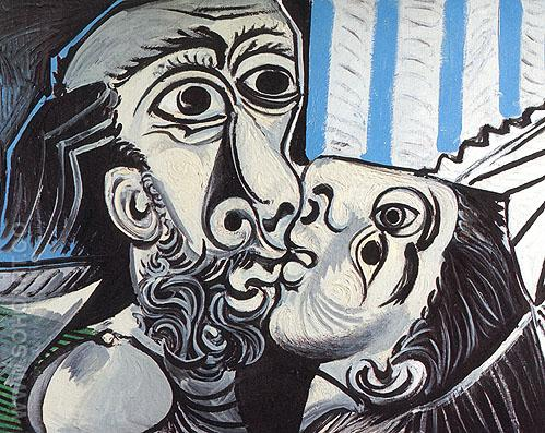 The Kiss (1969) - Pablo Picasso reproduction oil painting