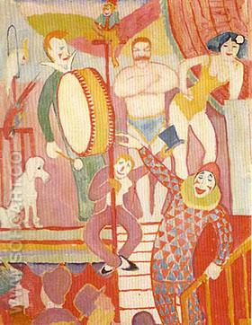 Auguste Macke Circus Picture II (1911) - August Macke reproduction oil painting