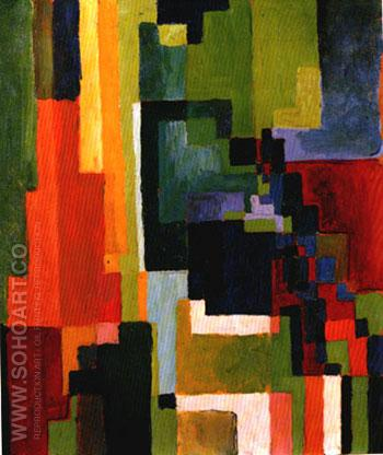 Coloured Forms II (1913) - August Macke reproduction oil painting