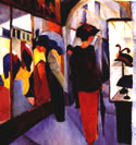 Hat Shop (1913) - August Macke reproduction oil painting