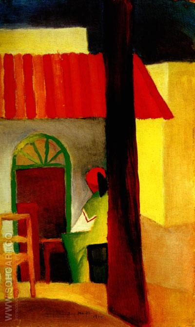 Turkish Cafe I (1914) - August Macke reproduction oil painting