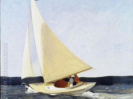 Sailing 1911 - Edward Hopper reproduction oil painting