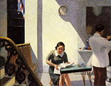 The Barber Shop 1931 - Edward Hopper reproduction oil painting