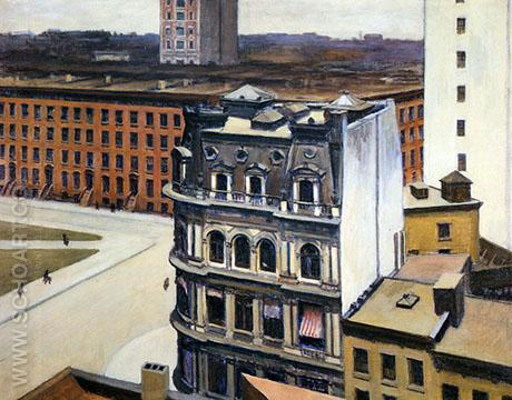 The City 1927 - Edward Hopper reproduction oil painting