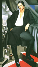 Duchess de la Salle - Tamara de Lempicka reproduction oil painting