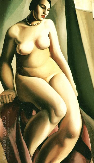 Seated Nude 1925 - Tamara de Lempicka reproduction oil painting