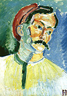 Portrait of Andre Derain 1905 - Henri Matisse reproduction oil painting