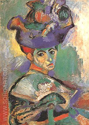Woman with the Hat - Henri Matisse reproduction oil painting