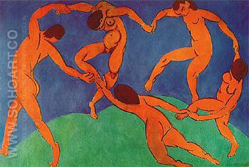 The Dance II 1909 Hermitage Version - Henri Matisse reproduction oil painting