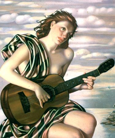 Amethyste 1946 - Tamara de Lempicka reproduction oil painting
