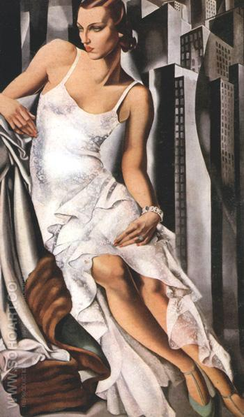 Portrait of Mrs Alan Bott 1930 - Tamara de Lempicka reproduction oil painting