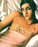 La Chemise Rose 1933 - Tamara de Lempicka reproduction oil painting