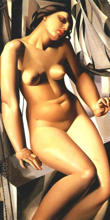 Nude with Sails 1931 - Tamara de Lempicka reproduction oil painting