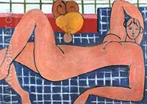 The Pink Nude 1935 - Henri Matisse reproduction oil painting