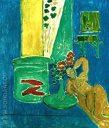 Goldfish and Sculpture 1912 - Henri Matisse reproduction oil painting