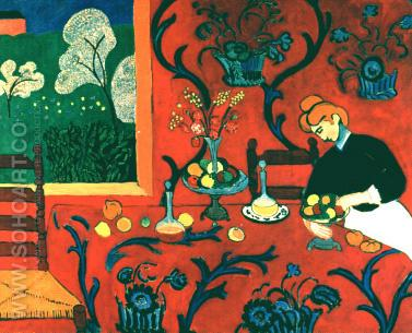 Matisse Harmony in Red 1908 - Henri Matisse reproduction oil painting