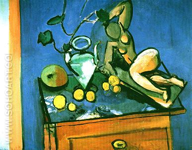 Terracotta Water Jug & Fruits 1915 - Henri Matisse reproduction oil painting